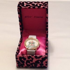 New In Box Betsey Johnson Frog Watch #BJ00052-08